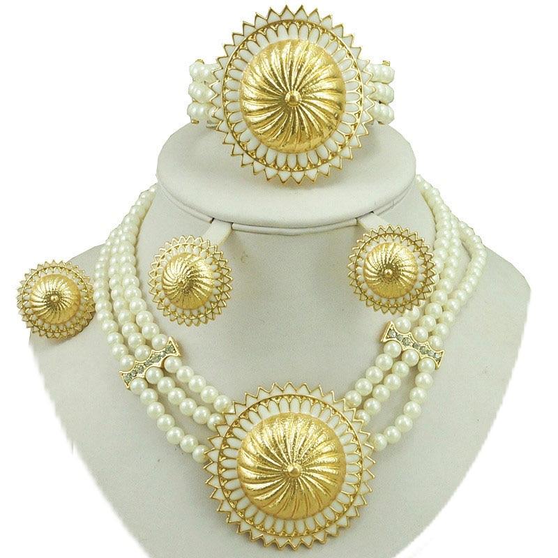Fonkelnieuw Afrikaanse kraal sieraden sets fijne bruids sieraden sets bruiloft KZ-15