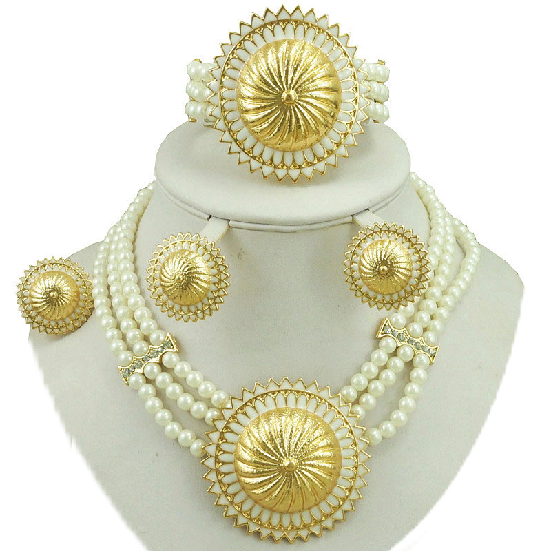 african bead jewelry sets fine bridal jewelry sets wedding jewelry sets african gold jewelry women  beads necklace earrings