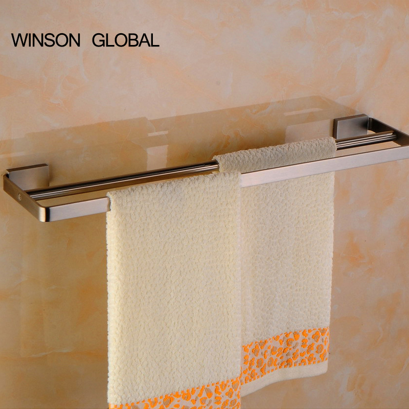 towel holder 304 stainless steel double towel rail bath bar towel rack bathroom pendant ICD60045 batroom golden crystal double cup holder bathroom double cup rack holder hardware bath sets bathroom accessories