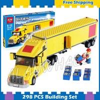 298 шт. City аэропорт большой транспортных средств желтый модели грузовик строительные блоки 02036 собрать подарки наборы детей совместимы с Lego