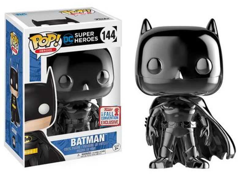 2017 NYCC Exclusive Funko pop Official Batman (Black Chrome) Limited Edition Vinyl Action Figure Collectible Model Toy In Stock limited edition original funko pop dc universe green lantern the arrow vinyl figure collectible model toy with original box