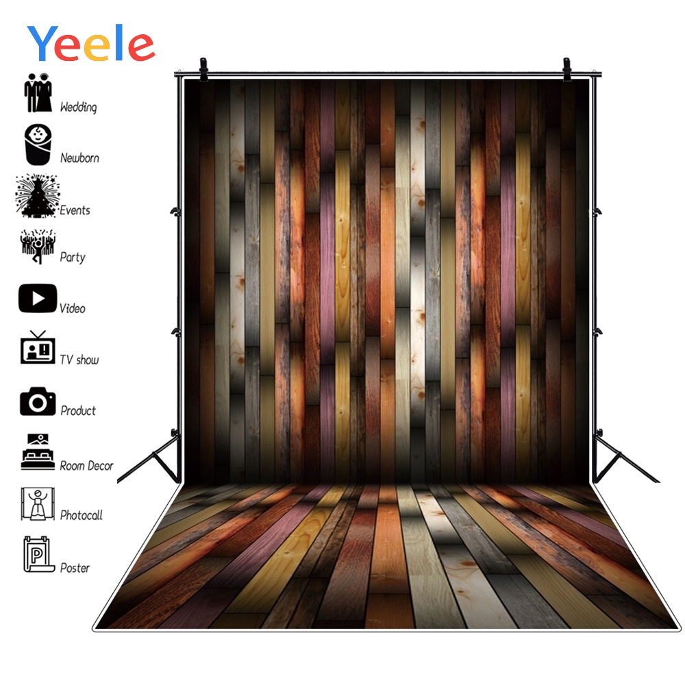 Yeele Grunge Wood Board Planks Portrait Photographic Backgrounds Professional Camera Photography Backdrops For The Photo Studio in Background from Consumer Electronics