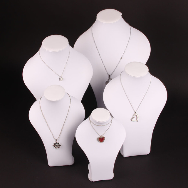 High grade White Cloth Mannequins Neck Jewelry Frame Pendant