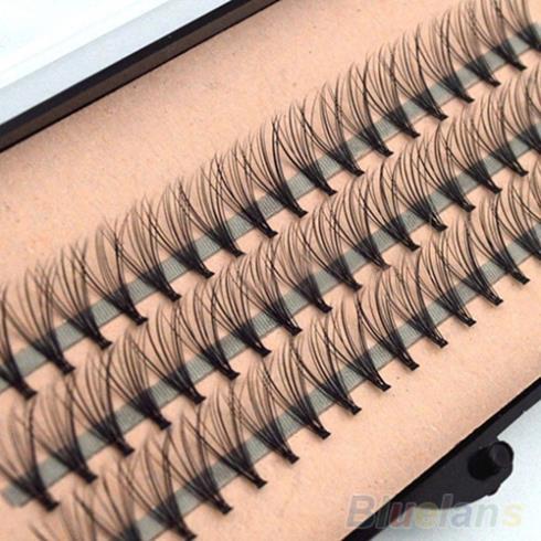 Fashion 60pcs Professional Makeup Individual Cluster Eye Lashes Grafting Fake False Eyelashes 477N