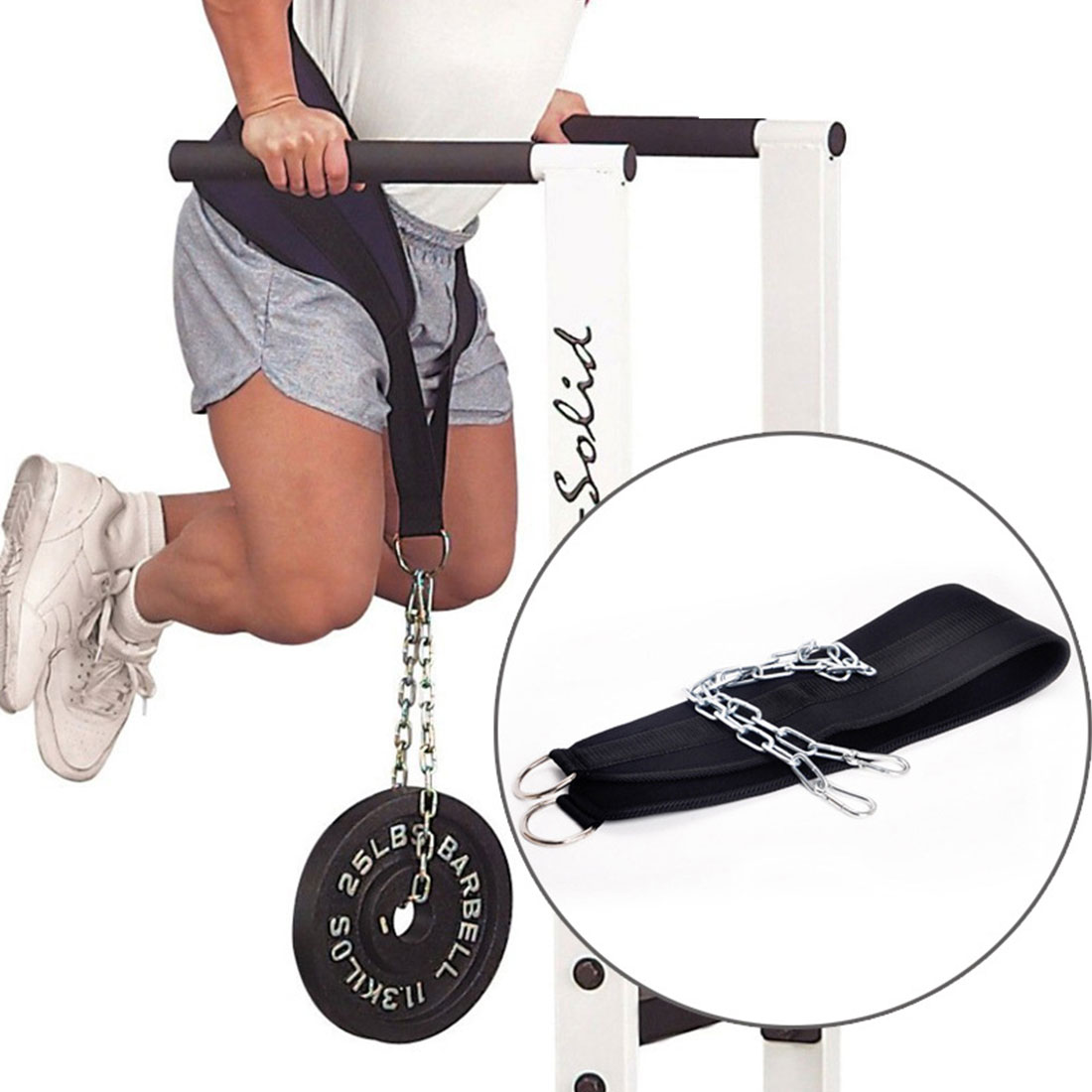 Hot New Fitness Equipment Weight Lifting Belt Gym Body Waist Strength Training Power Building Dipping Chain Pull Up