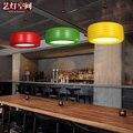 Цветная винтажная Подвесная лампа в стиле ретро  креативная Подвесная лампа для ресторана  студийная Подвесная лампа  индивидуальное освещ...