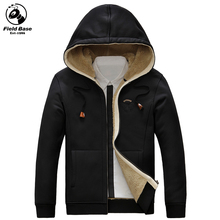 2017 New Arrival Winter Parkas Hoodies Men Casual Winter Jackets Fur Lining Solid Warm Zipper Coats Sweatshirts Male FL-79898