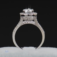 Hot Sale Fashion Luxury Women Engagement Jewelry 925 Sterling Silver 5A ZC Crystal Zircon Female Wedding