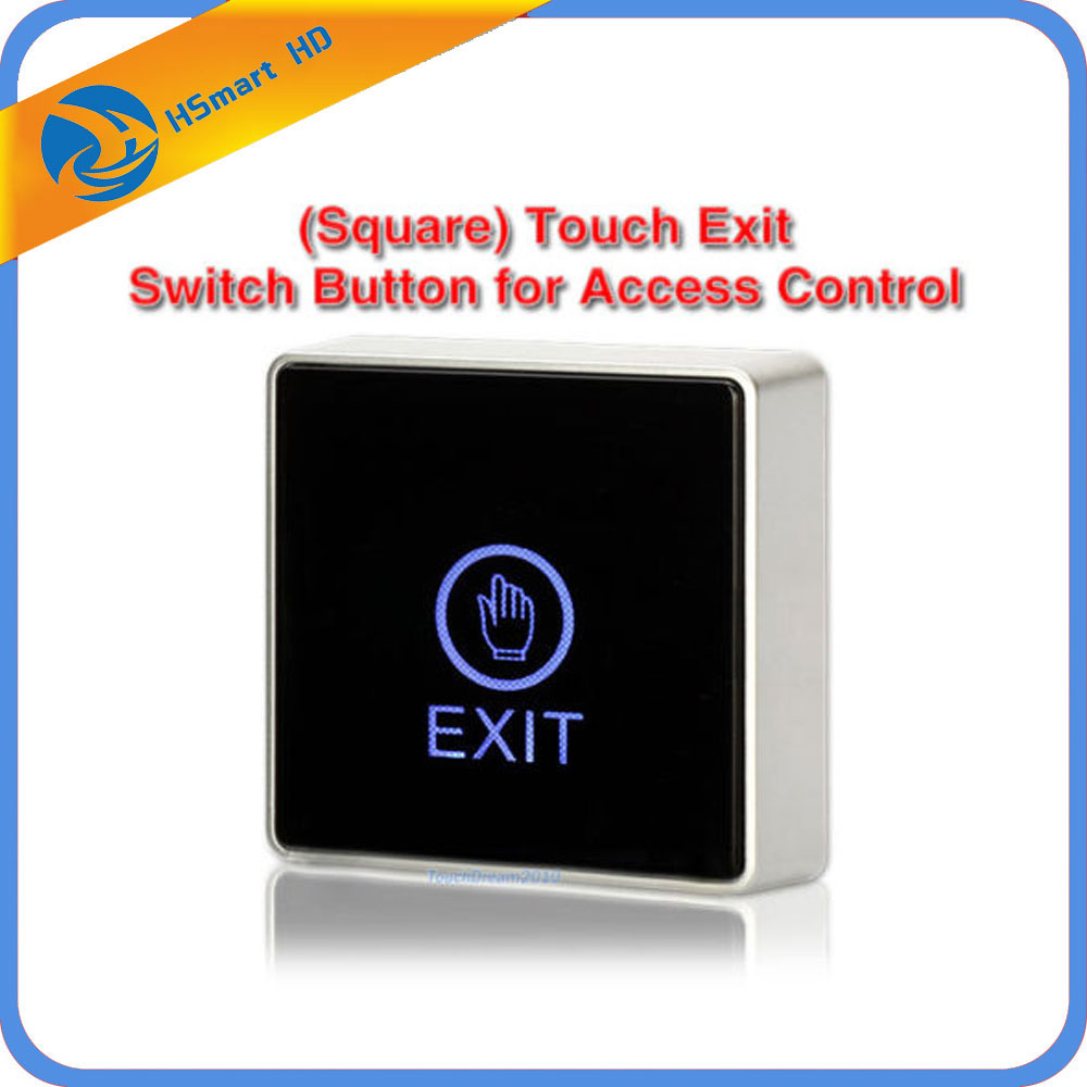 New Door Touch Sensor Exit Button Push Home Release Panel Access Control LED Light For Access Control Electric magnetic Lock lpsecurity stainless steel door access control led backlit led illuminated push button door lock release exit button switch