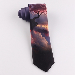 Image 5 - Tie 7CM printing tie male and female students literary trend casual personality gift tie