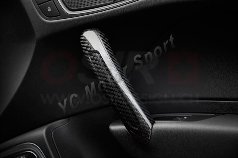 Бесплатная доставка автомобильные аксессуары углеродного волокна внутренняя отделка Подходит для 2010 2013 A1 внутренняя тянуть дверная накла