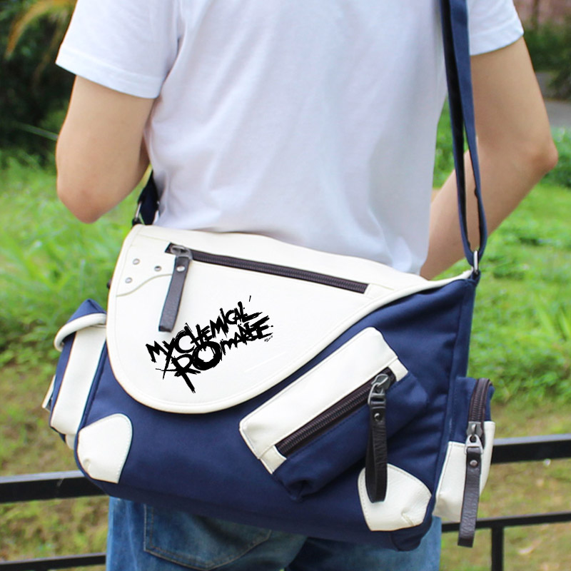 My Chemical Romance Punk band Shoulder bag Backpack Women Men Messenger Bags Rucksack Tr ...
