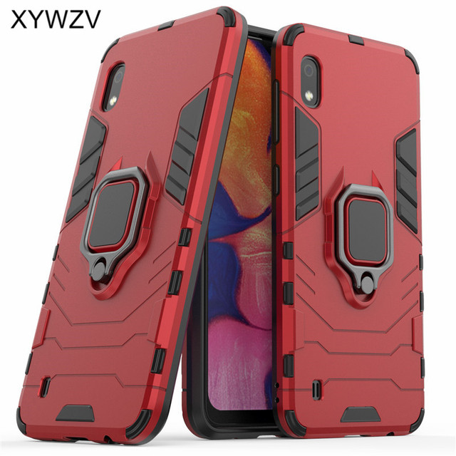 For Samsung Galaxy A10 Case Shockproof Armor Metal Finger Ring Holder Phone Case For Samsung Galaxy A10 Cover For Samsung A10