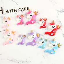 5pcs/lot Resin unicorn Decoration Crafts Kawaii Flatback Cabochon Embellishments For Scrapbooking DIY Accessories Butto