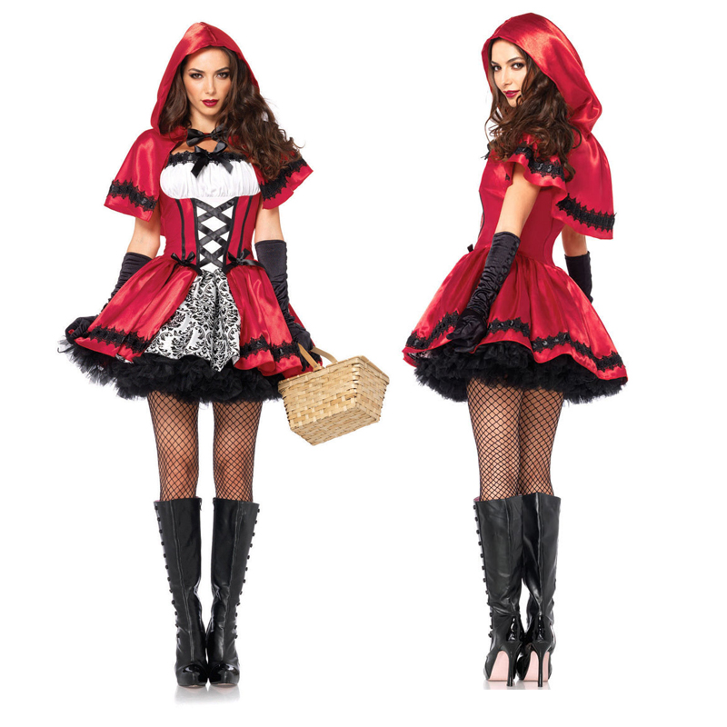 Classic Little Red Riding Hood Uniform Carnival Halloween Hen Party Sexy Fairy Tales Book Week Cosplay Costume-in Movie & TV costumes from Novelty & Special Use