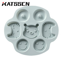 Lovely Cake Mold Blue and Pink Color Chocolate With Silicone Materials Carton Silicon Moulds Bakeware in KATSSCN