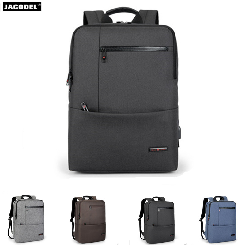 2018 Jacodel Anti-thief USB bagpack 15 inch laptop backpack for women Men school backpack Bag for boy girls Male Travel Mochila