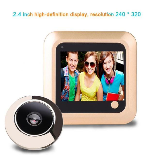 2.4 بوصة 240*320 جرس الباب الرقمي شاشة LCD ملونة 145 درجة ثقب الباب المشاهد العين جرس الباب في الهواء الطلق