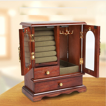 Hardwood Wooden Jewelry Box Organizer