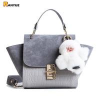 Chain Vintage Patchwork Crocodile Nubuck Leather Bags Handbags Women Famous Brand Trapeze Handbag Women Crossbody Messenger