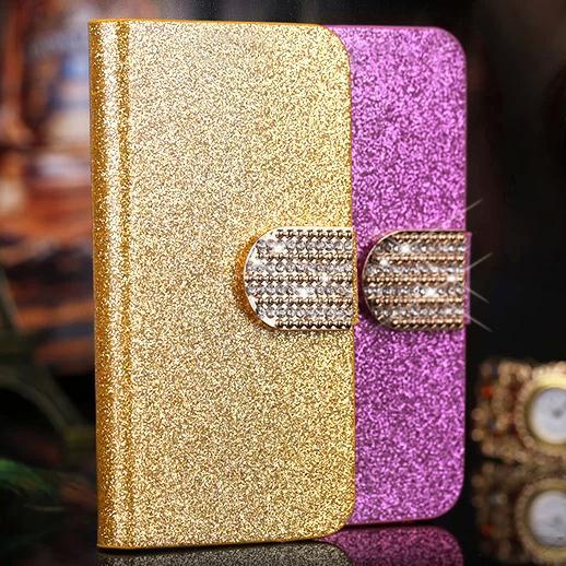 Luxus bling flip pu leder folio case skin tasche für motorola droid...