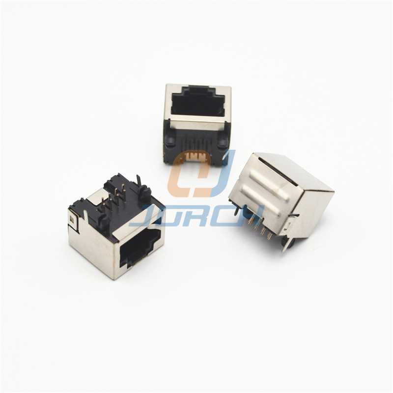 Сетевой интерфейс RJ45 разъем без лампы Нет осколков Cat5 RJ45 разъем pcb jack 8p8c разъем адаптера