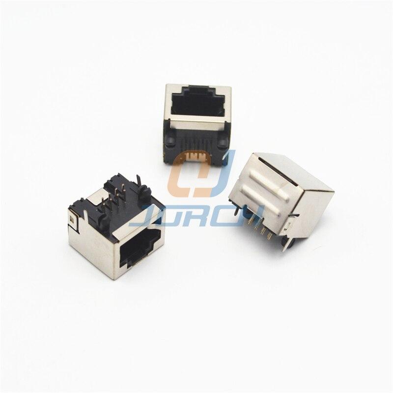 Разъем RJ45 сетевого интерфейса, гнездо без лампы, Нет осколков Cat5 RJ45 разъем pcb jack 8p8c разъем адаптера