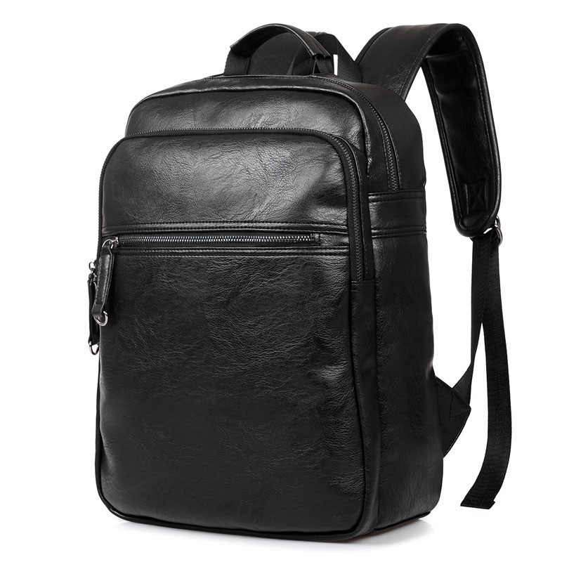 e200193806 Backpack Men s Backpack Men PU Leather Backpacks For Teenagers Luxury Designer  Casual Large Capacity Laptop Bag