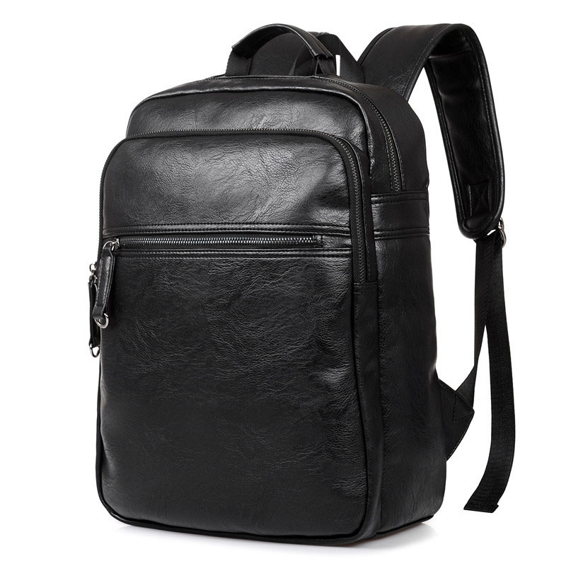Backpack Men's Backpack Men PU Leather Backpacks For Teenagers Luxury Designer Casual Large Capacity Laptop Bag Male Travel Bags