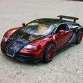 Nuevo Modelo de Aleación Diecast Car Collection Regalos Del Cabrito 1/32 Bugatti Veyron Diecast Coches de Juguete con Luz/Sonido