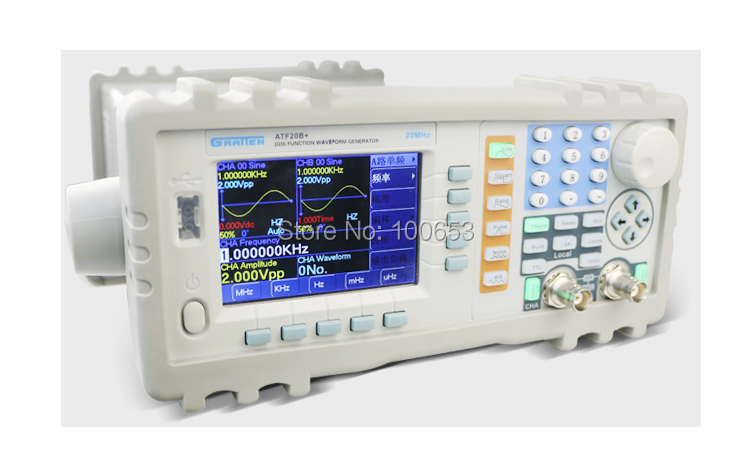 2016 New on sale ATTEN ATF20B+ DDS FUNCTION GENERATOR 20MHZ 100MSa/s110-220V with Power Amplifier MAX output power up to 7W on sale 100