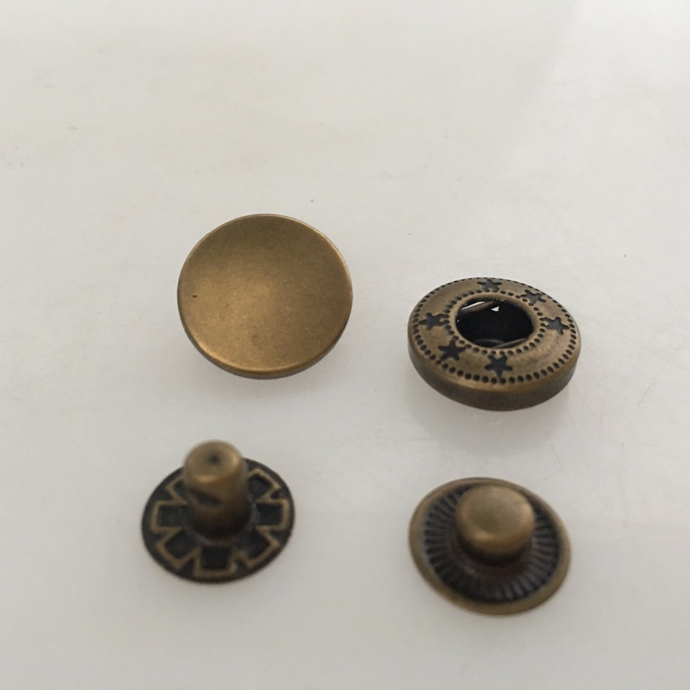 25mm Large Metal Snap Fasteners Poppers Press Studs Black Silver or Antique Gold