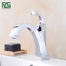 FLG Bathroom Mixer Tap Chrome Oil Rubbed Bronze Color Brass Faucet Single Handle Sink Bath Mixer Taps Hot And Cold Basin Faucet oil rubbed bronze waterfall spout deck mount basin sink faucet dual handles bathroom hot cold mixer taps