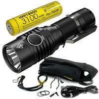 FREE SHIPPING NITECORE 1800 Lumens MH23 IMR18650 Rechargeable Battery 3100mAh CREE XHP35 HD LED Torch Waterproof Mini Flashlight