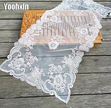 Modern lace embroidery table place mat pad cloth mug cup coffee tea coaster Christmas New year placemat dining pot doily kitchen