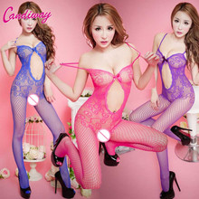 Exotic Apparel Teddies open cortch mesh lady stocking NightLife sexy women Baby Doll fishnet sex product lingerie female Tight