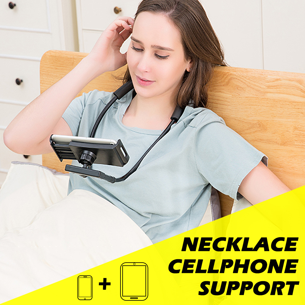 Necklace Long Arm Holder Lazy Bracket Universal <font><b>Phone</b></font> Holder Flexible 360 Degree Rotation Support For iPhone X