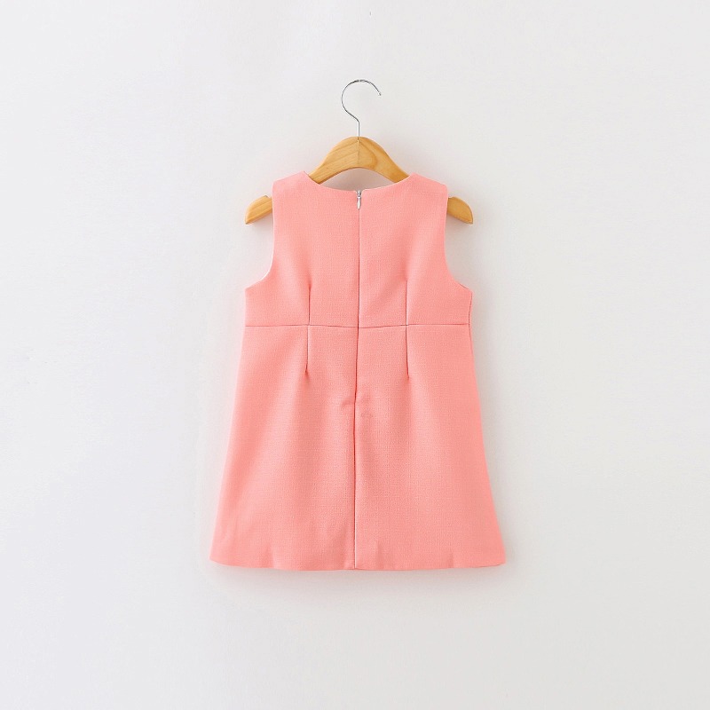 Girls Dress Summer Baby Clothes Girl Sleeveless Kids Dresses For Girls Character Bear Print Dresses Princess Dress 3