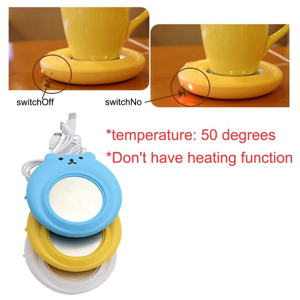 Mini Cute USB Warmer Pad Heater Milk Tea Coffee Hot Drinks Cup Coaster Mats