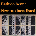 Henna Nail Art Stickers Mixed Designs Watermark nails tips Decals Wraps Nail Art Tools
