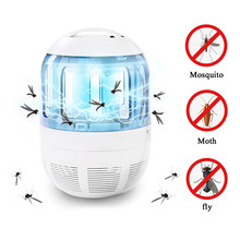 USB LED Electronic Bug Zapper Mosquito Trap Fly Insect Killer UV Light Lamp With 360 Degree Escape Proof Mesh