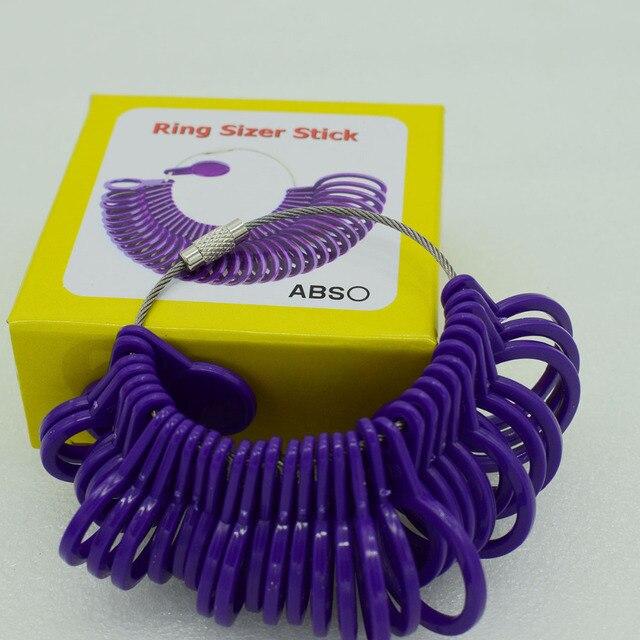 ef54ab1282111f Vinger Ring Size Gauge Meten Vinger Maten meet bereik 1-33mm Plastic Tool  Sieraden Ring
