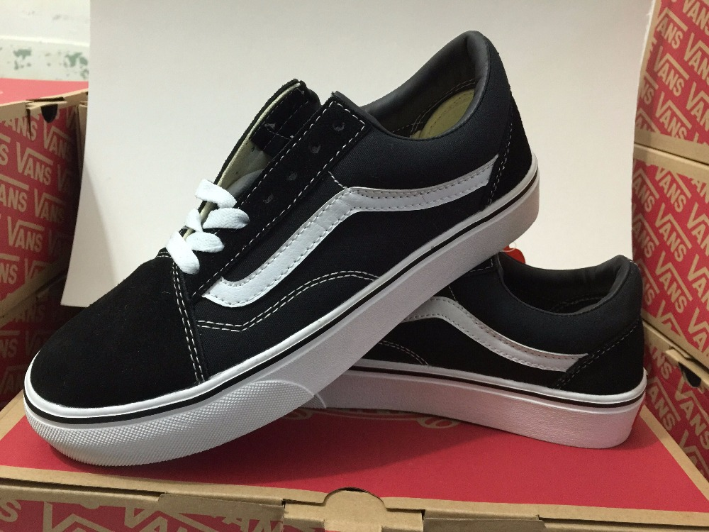 dde97140686784 Vans size36-44 Men/Women canvas Shoes Weight lifting shoes Old Skool low-top