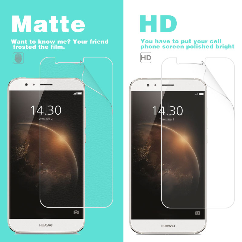 Anti-Glare Matte Film For Huawei G8 5.5 in RIO-L01 RIO-L02 HD Clear Glossy Film With Cleaning Tools Cell Phone Guard + Cloth