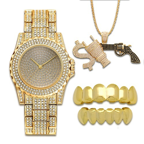 Lureen Hip Hop Zirconia Gun...