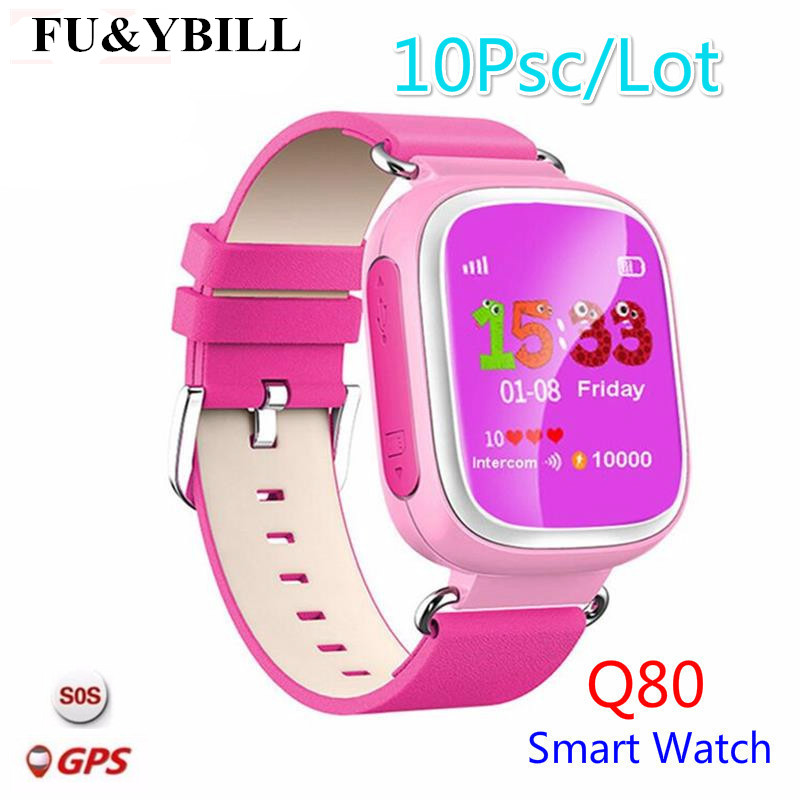(10 Pcs/Lot) Q80 Children's GPS Positioning Smart Phone Watch 1.44 Inch Color Anti Lost Two-way Call Watch PK Q90 Q60 Q730 Q750 агрометр color way gis m10 gps