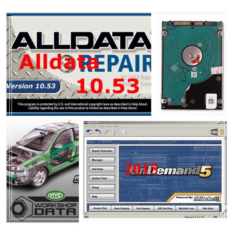 2020 TB HDD Alldata 10.53V + Mit chell // 1 od5 2015V + Vivid Worshop de dados + ElsaWin 5.3 + Heave caminhão ALLDATA Software de Reparação Automóvel