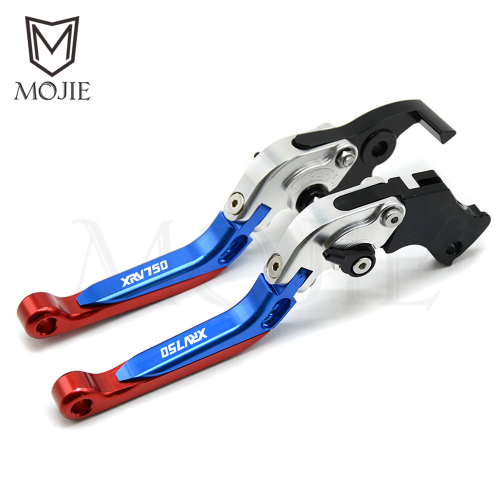 For Honda XRV750 L Y Africa Twin 1990 2003 1991 1992 Motorcycle Adjustable Folding Extendable Brake Clutch Levers Set XRV 750 in Brake Disks from Automobiles Motorcycles