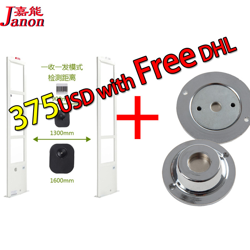 security alarm system 2pcs +1 RF tag detacher free fedex shipping big promotion anti theft security door