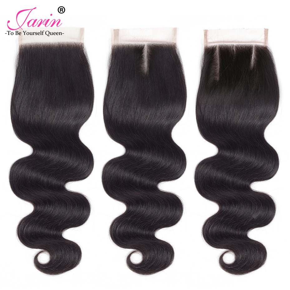 Jarin Brazilian Body Wave 4 Bundles With Closure 4*4 Lace Closure Brazilian Hair Weave Bundles With Closure Human Remy Hair